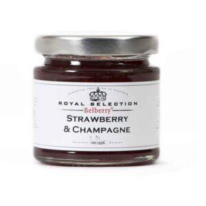 Confitura de fresa con Champagne.