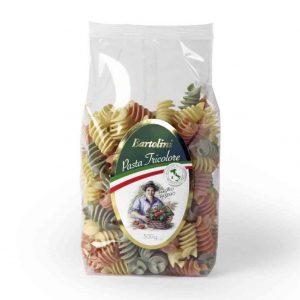 Bolsa de pasta Fusilli tricolor